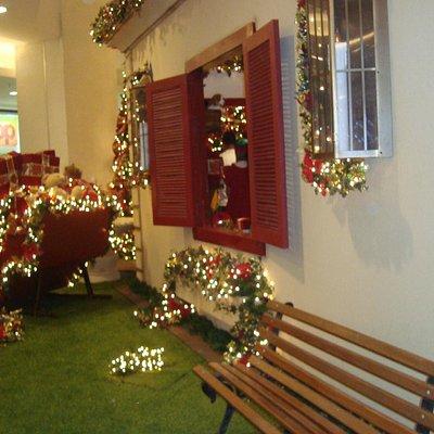 decoração da casa do papai Noel.