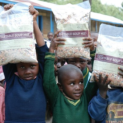 Bags of Gleaners dried soup mix sent overseas