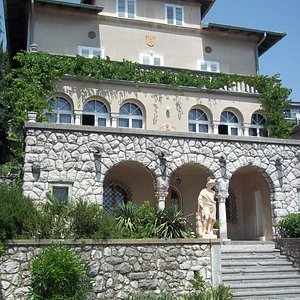 l'esterno della villa