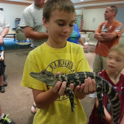 At a special reptile presentation