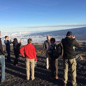 Looking at Mauna Loa from the road up Mauna Kea