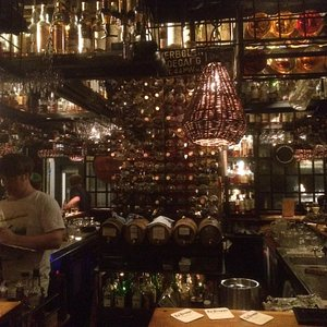 Great ambience with a rustic feel filled with all the wiskey you can think of!!