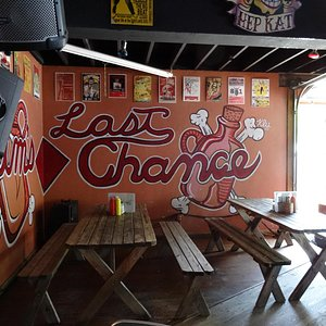 Some of the Decor at Slim's Last Chance Chili