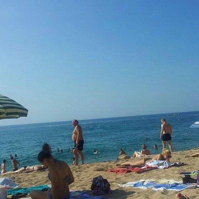 Spiaggia di lloret del mar inizio lungomare