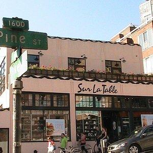 Sur La Table facing Pine St