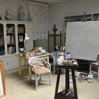 Giorgio de Chirico's  art studio