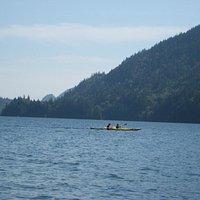 kayaking in the lake