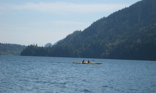 kayaking in the lake