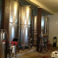 The winery tank room.
