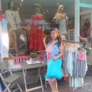 Happy shopper in front of BoHo Chic!!!