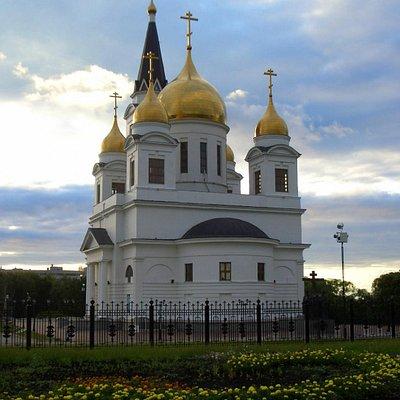 View of Kirillo-Mefodiyevsky Cathedral