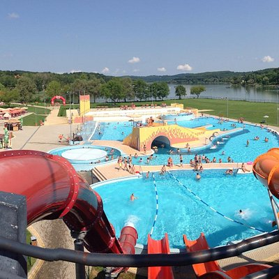 Nice view from the slides to the lake