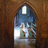 Portal drewniany w Kościele Św.Bartłomieja