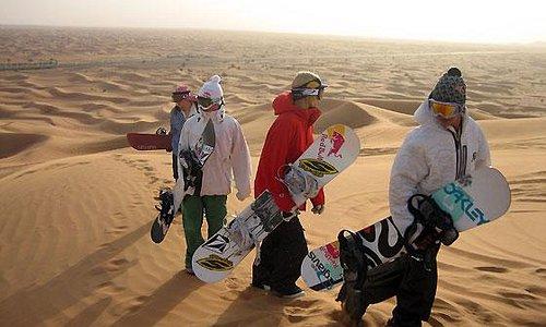 sand boarding in sahara desert