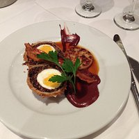 Haggis Scotch egg starter