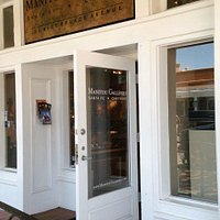 Entrance of the Gallery Manitou, downtown Santa Fe