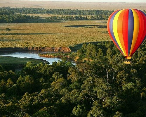 A Governors Balloon Safari over the forests and Mara River