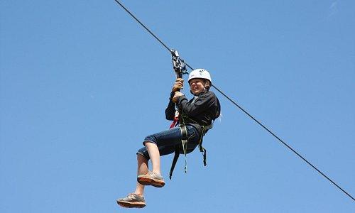 Zipline fun in Yellowstone