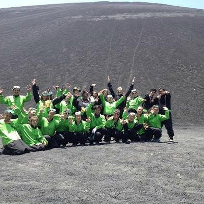 Global Glimpse after sliding down Cerro Negro