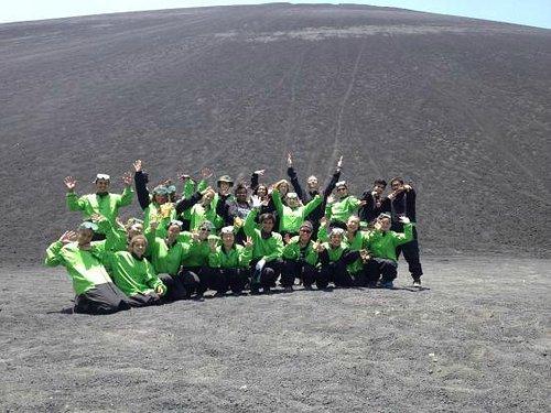 Global Glimpse after sliding down Cerro Negro