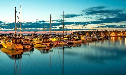 evening in the marina
