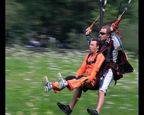 Skydive landing!