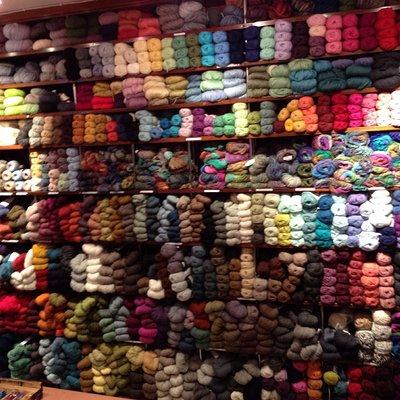 Great selection of yarns