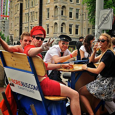 Party on the beerbike in Amsterdam! - 2014