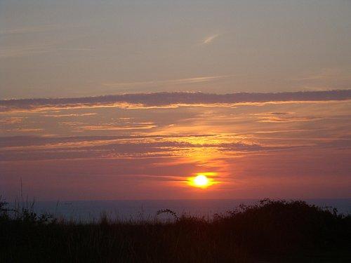 Coucher de soleil au Cap Fanget
