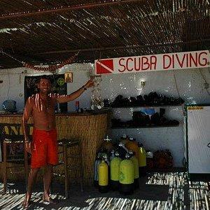 Prodivers diving club at santa maria surfing beach