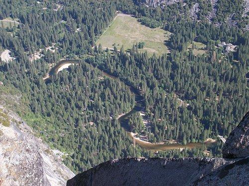 Valley floor seen from Glacier Point