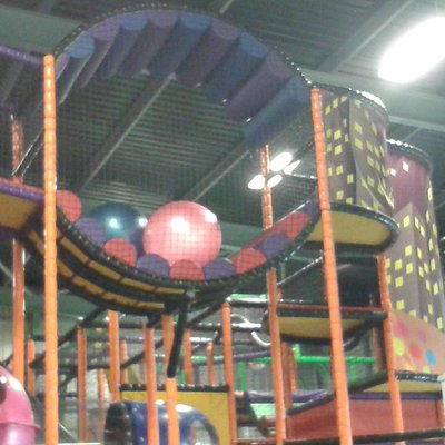 part of the climbing play area