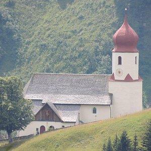 Kirche Damüls, Österreich