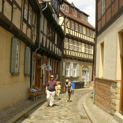 One of the quaint old streets in Quedlingburg