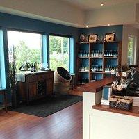 Warm inviting wine tasting room in Penticton BC