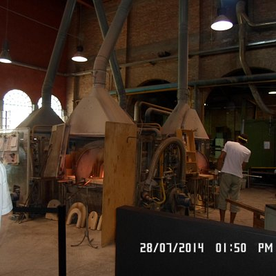 L'interno della fornace