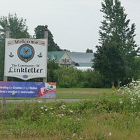 Welcome sign to the community of Linkletter
