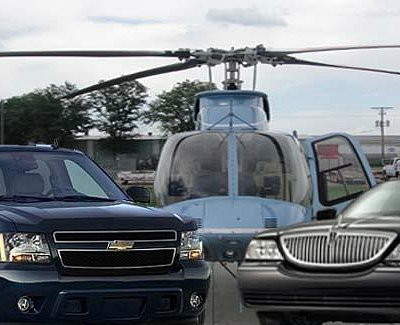 Aerial and limousine guided tours