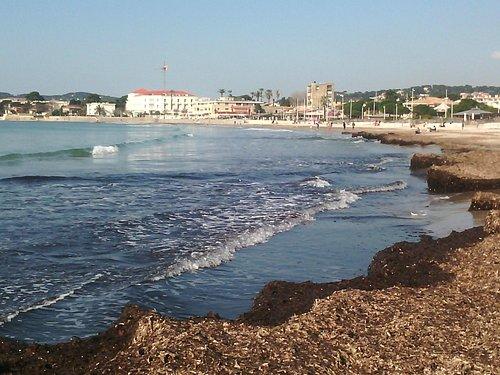 La plage des Sablettes (depuis St Elme)