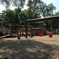 It's huge wooden playground. Kids love it.