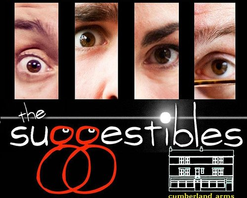 Catch the Suggestibles improv comedy shows at the Cumberland Arms Newcastle, monthly Saturdays