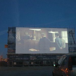 Huge screen at Route 66, Liverpool