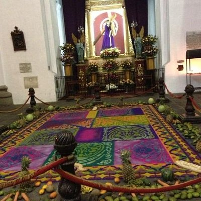 Decoration in front of altar
