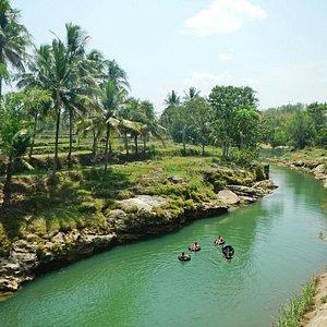 River tubing Jogja, java