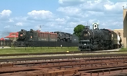 Trains outdoors too !