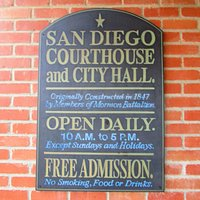 First San Diego Courthouse at Old Town