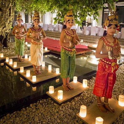 Apsaras at Park Hyatt Siem Reap
