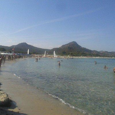 La veduta della spiaggia