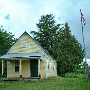 exterior of cedar hill school house