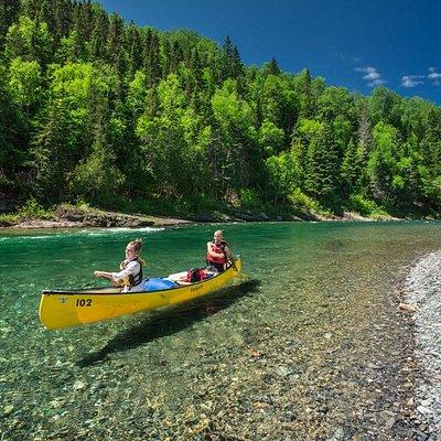 La limpidité de la rivière Bonaventure